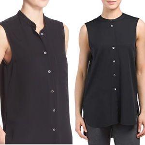 Theory Hinzin R stretch silk tunic